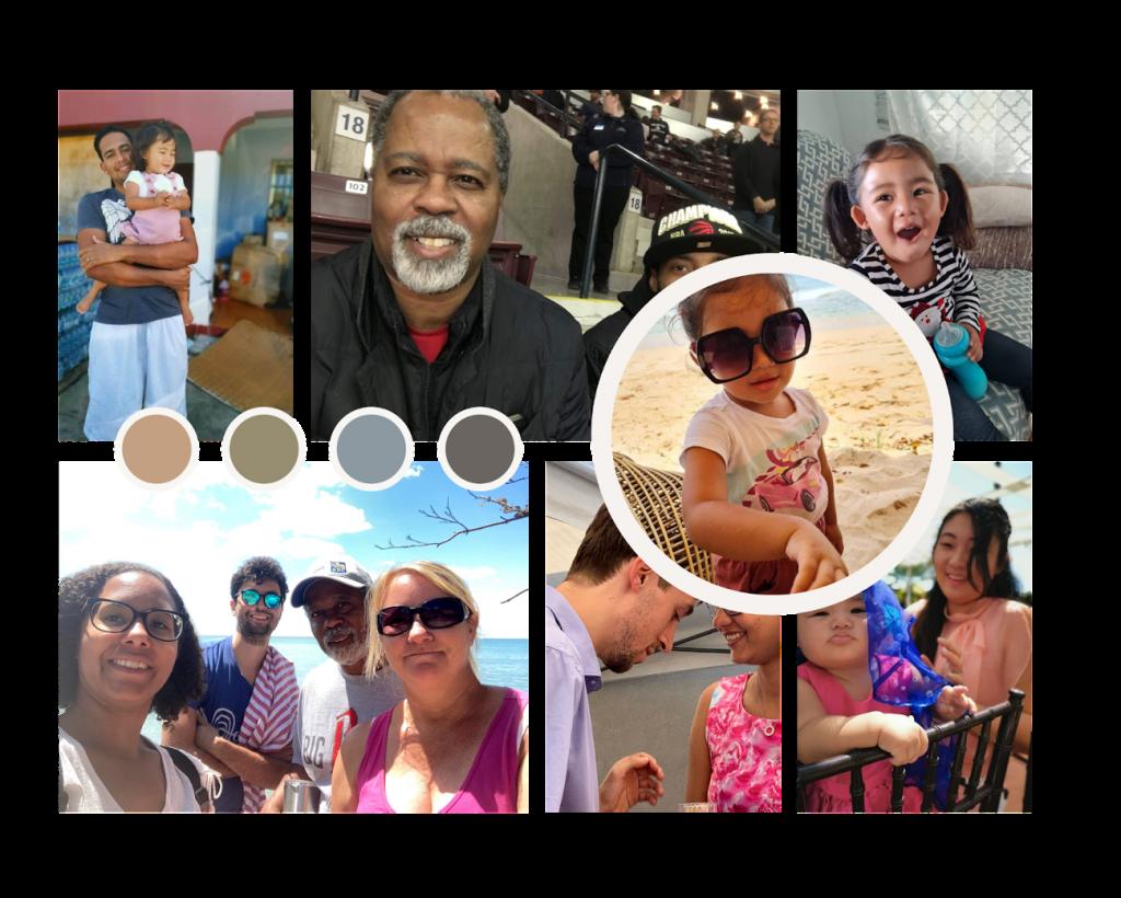 Racially diverse family